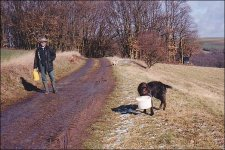 Jagdgehilfin Catja beim Kirren